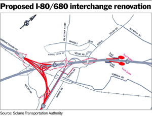 Agencies agree on new I-80/680 interchange location in Solano