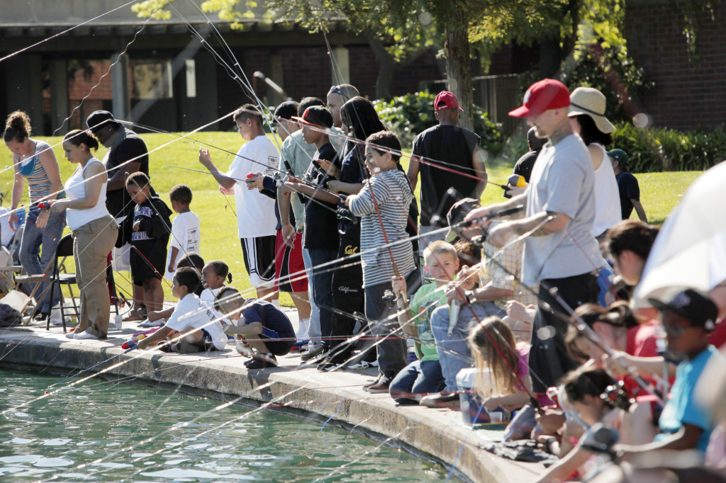 Kids Day of Fishing Inc. at the Civic Center Pond