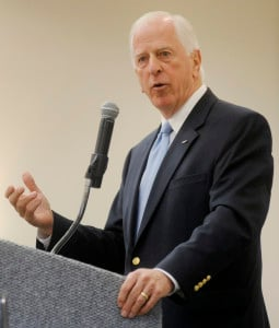 Congressman Mike Thompson speaks at the Solano Economic Development Corporation breakfast, at the Fairfield Hilton Garden Inn on Friday. (Robinson Kuntz/Daily Republic)